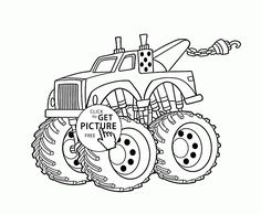 Funny Monster Truck Coloring Page For Kids Transportation Pages Printables Free