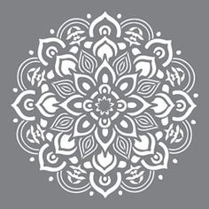 DecoArt Americana Decor 10 in. Mandala - The Home Depot - design - DecoArt Americana Decor 10 in. Mandala – The Home Depot - Stencils Mandala, Stencil Art, Stencil Designs, Mandala Art, Stenciling, Floor Stencil, Mandala Painting, Stencils For Painting, Lace Stencil