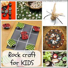 rock pebbles stone craft activities for kids