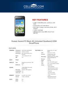huawei-ascendp2black4-gunlockedquadbandgsmsmartphonebrochure33444-20555122 by Cellhut via Slideshare