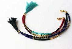 Beaded Tribal Bracelet  Friendship Bracelet  by feltlikepaper