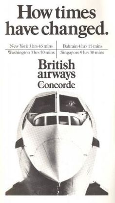 concorde- I flew to London on this!