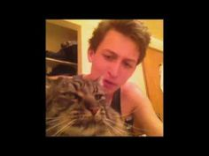 """""""If you're happy and you know it-"""" *cat attacks him* This is the best! :))"""