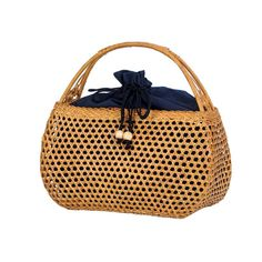 da365fa122 Women Bamboo Bags Bohemian Female Summer Beach Handbag Lady Vintage Ratten  Knitted Bag Hollow Handmade Weave