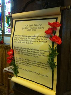Remembrance weekend All Saints