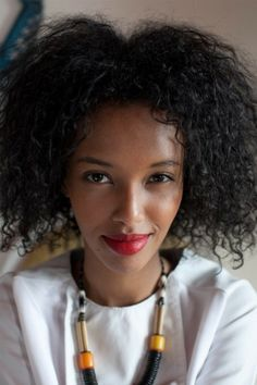 """Saada Ahmed - """"I don't like that word, 'natural.' It's like a new thing. Natural. It's just your hair. No other race says 'Oh, your hair is natural."""""""