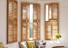 We offer tier on tier Shutters in various woods and finishes. Shop at The Shutter store & find your perfect wooden tier on tier window shutters. Cafe Shutters, Interior Wood Shutters, Interior Doors For Sale, Diy Shutters, Wooden Shutters, Interior Windows, California Shutters, Best Interior Design Websites, Cafe Style
