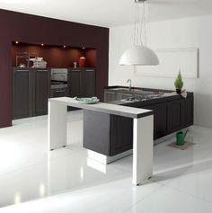 elegante-küche-gestalten-moderne-küchenmöbel- regale in schwarz ...