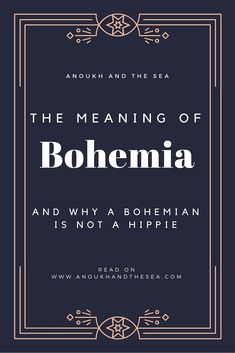 As a Roma whose family spent time in Bohemia when it was Czechoslovakia this is not entirely correct but a good amount of source material was used Bohemian Meaning, Gypsy Meaning, Chic Meaning, History Meaning, Boho Chic, Gypsy Chic Decor, Boho Decor, Shabby Chic, How To Be Hippie