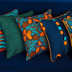 Create a pop of colour in your home with our African print cushions! Create a pop of colour in your home with our African print cushions! Ankara pill… Create a pop of colour in your home with our African print cushions! African Interior Design, African Design, Ethno Design, African Furniture, African Theme, African Attire, African Style, African Dress, African Accessories