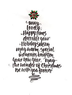 #Christmas #calligraphy by #saltlightcalligraphy #lettering #typography #seattleartist
