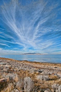 View from a trail on Antelope Island, near Ogden, Utah