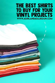 Everyone wants to know where the best place to buy shirts to put heat transfer vinyl on--so I went shopping and I have a list of the best shirts to buy for the money! Meme Shirts, Buy Shirts, Making Shirts, Blank T Shirts, Vinyl Shirts, Cool Shirts, Deco Foil, Comfort Colors, Vinyl Projects