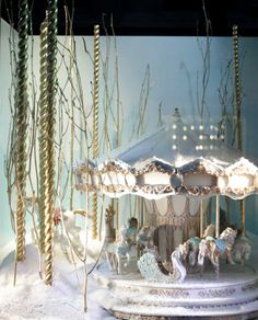 Tiffany Christmas windows 2011 Bond Street London carousel animals snow Source: http://www.intrinsicallyflorrie.com/