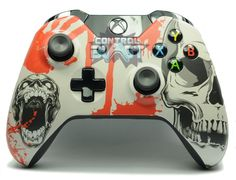 Blood and Skulls Xbox One Custom Controller UK