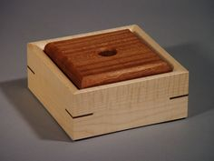 Wood Jewelry Box in Curly Maple and Sapele by JonathanBrower, $100.00