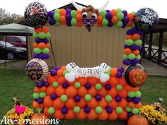 Balloon Frame, Espanto, Halloween Balloons, Balloon Decorations, Trick Or Treat, Frames, Study, Projects, Studio