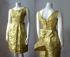 50s golden dress/ moonlight evening gown / por StardustVintagestore, £70.00