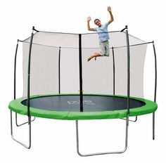 Pure Fun Dura-Bounce 15 FT Trampoline with Enclosure