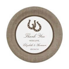 Rustic Burlap & White Lace Wedding Paper Plates 7 Inch Paper Plate ...