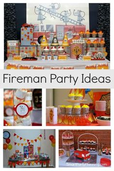 Selection of awesome fireman party ideas that the kids will love. There are ideas for themed food, decorations, printable's and more. For budding Fireman Sam enthusiasts or those dreaming of being a firefighter this is a party theme that will excite. The ideas are simple to recreate at home for busy moms.