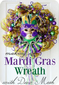 DIY Mardi Gras Wreath Tutorial