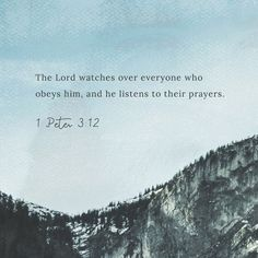 """""""The Lord's eyes are on the righteous and his ears are open to their prayers. But the Lord cannot tolerate those who do evil. Who will harm you if you are zealous for good?"""" 1 Peter 3:12-13 CEB http://bible.com/37/1pe.3.12-13.ceb"""