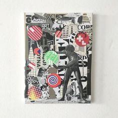 """""""Fokus Pokus"""", collage on canvas, 30 x 40, 2018.  deshalb.   Désha Nujsongsinn is an independent designer and graphic artist based in Munich, Germany. #ichoosetheartway #deshalb #DeshaNujsongsinn #deshalbpunkt #mixedmedia #graphicart #graphicartist #collage #collageart #artwork #contemporaryart #collagen #graphicdesigner #paperwork #gallery #idnmagazine #designer #printisdead #grafikdesign #graphicdesign #munich"""