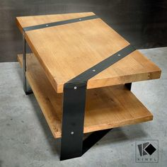 Kinkl table basse bois métal