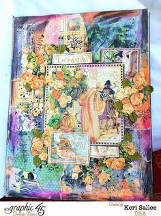The Creative Life: Blog Hoppin' with Graphic 45 and Scrapbook Adhesives. A gorgeous An Eerie Tale journal by Keri #graphic45 #scrapbookadhesives