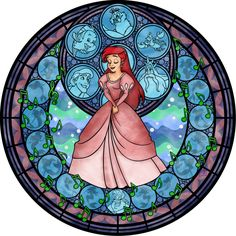 Stained Glass: Ariel -remastered- by Akili-Amethyst on DeviantArt