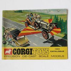 Corgi Toys Die Cast Cars Catalog 1969 Good Condition