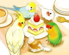 Embedded  Birds  Pinterest  Dibujos de aves Loros y Cosas tiernas