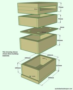 Stingless bee hive with honey super – Modern Stingless Bees, Bee Hive Plans, Honey Bee Hives, Honey Bees, Raising Bees, Bee Boxes, Bee Farm, Beneficial Insects, Bees Knees
