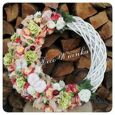 Wianek jesienny,wianki,wianek,dom,dekoracje,dekoracja,wystrój wnętrz,hand made,rękodzieło,Home,sweet home,