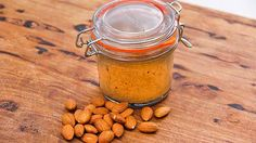 Roasted Almond Butter --- Recipe from Everyday Gourmet with Justine Schofield Nut Recipes, Gluten Free Recipes, Cooking Recipes, Healthy Recipes, Healthy Food, Vege Burgers, Macadamia Oil, Roasted Almonds, Almond Butter