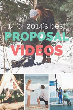 Best Marriage Proposal Videos of 2014 via @howheasked
