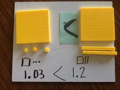 comparing decimals using base ten blocks terrific!