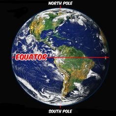 A view of Earth from Space with the Equator labeled. Original Image Photo: NASA