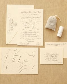 "See the ""The Invitation"" in our A Formal Outdoor Tent Wedding in New York gallery"