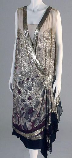 Silk evening dress by Jeanne Lanvin (French, 1867–1946) for the House of Lanvin (French, founded 1889), ca. 1925