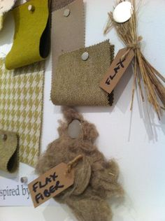 We've made a beautiful new fabric range using the bast fibre, flax!