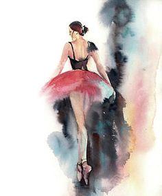 Bildergebnis für aquarelle painting ballerina