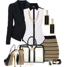 """Gold Sky High Heels"" by rockreborn on Polyvore"