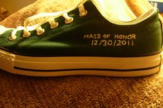 CUSTOM Childrens Hand Embroidered Converse. $19.00, via Etsy.
