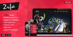 #Zifa - #Responsive #OnePage #Theme - ThemeForest Item for Sale