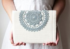And then, the only thing missing with be an iPad :P    iPad case - Decorated with crochet lace from etsy