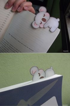 Koala bookmark by DoceSonho on DeviantArt Creative Bookmarks, Paper Bookmarks, Cute Bookmarks, Watercolor Bookmarks, Diy Crafts For Gifts, Diy Arts And Crafts, Felt Crafts, Crafts For Kids, Bookmark Craft
