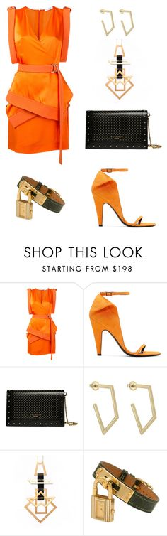 """Untitled #764"" by mary-en ❤ liked on Polyvore featuring Thierry Mugler, Calvin Klein 205W39NYC, Balmain, Hermès and party"