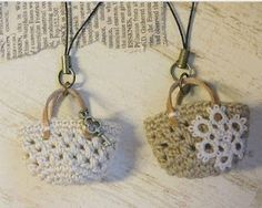 Crochet bag necklace or ornament?!?!?!?!